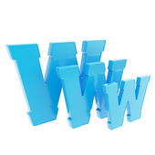 World wide web www letter symbol isolated — Stock Photo
