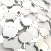 Group of speech text bubbles as abstract background — Stock Photo