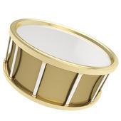Tamburo d'oro barile isolato su sfondo bianco — Foto Stock