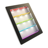Tablet pad electronic device with backlight screen — Stock Photo