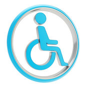 Disabled handicapped person icon emblem isolated — Stock Photo