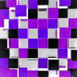 Abstract background made of glossy square plates — Stock Photo #18499903