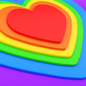 Heart shape composition as festive background — Stock Photo