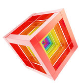 Abstract cube composition isolated on white background — Stock Photo