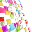 Abstract background made of glossy square plates - Stock Photo