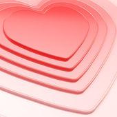心脏的形状组成作为节日背景 — 图库照片