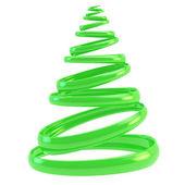 Symbolic Christmas tree made of rings isolated — Stock Photo
