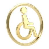 Disabled handicapped person icon emblem isolated — Stockfoto