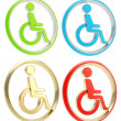 Royalty-Free Stock Photo: Disabled handicapped person icon emblem
