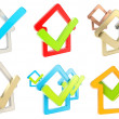 Checked house emblem with yes tick icon inside — Stock Photo #25450187