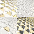Triangle cell geometrical background — Stock Photo