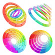 Stock Photo: Color range spectrum circle round palette