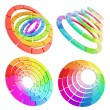 Color range spectrum circle round palette - Stock Photo