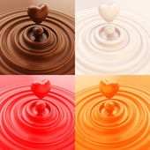 Heart shape liquid drop — Stock Photo