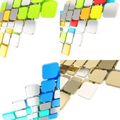 Dimensional square plate background composition — Stock Photo