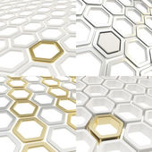 Abstract hexagon cell background — Stock Photo