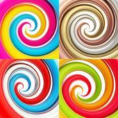 Twisted spiral vortex background — Stock Photo