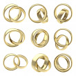 Wedding pair golden rings isolated — Stock Photo #8906459