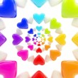 Abstract background made of glossy hearts — Stock Photo #8931430