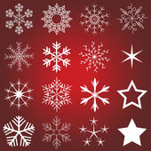 Collection of christmas snowflakes — Stock Vector