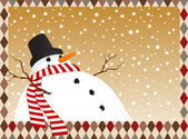 Winter card with a snowman — Stock Vector