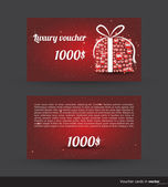 Luxury voucher card for Christmas shopping — Stock Vector