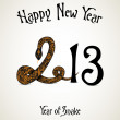 Royalty-Free Stock Imagen vectorial: New Year card with snake