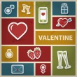 Valentine collage in retro style — Stock Photo