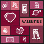 Valentine collage in retro style — Stock Photo #18677017