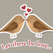 Royalty-Free Stock Photo: Two birds in love