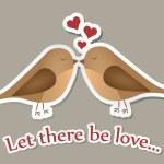 Two birds in love — Stock Photo
