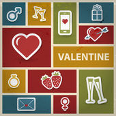 Collage de san valentín en estilo retro — Foto de Stock