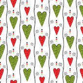 Seamless pattern with retro hearts — Stock Photo