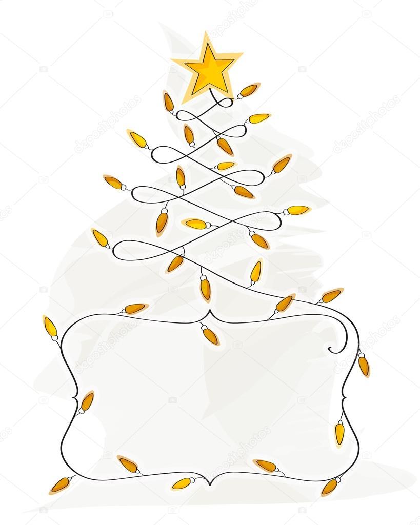 Christmas Tree Made of Bulbs Abstract Christmas Tree Made