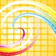 Abstract rainbow theme base wave - Stock Vector