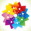 Royalty-Free Stock Vector Image: Abstract rainbow flower