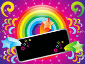 Abstract colorful rainbow background with sparkles — Stockvektor
