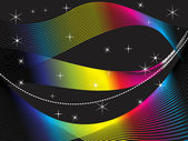 Abstract rainbow wave background — Stock Vector