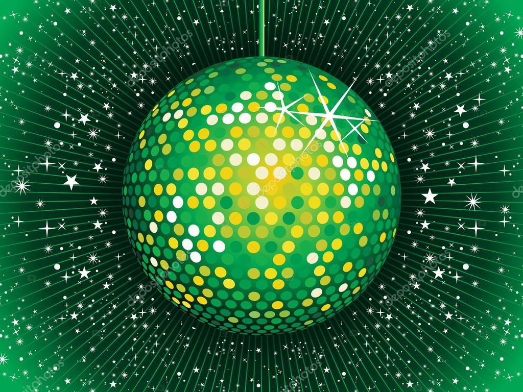 Abstrata verde bola de discoteca vetor de stock - Bola de discoteca de colores ...