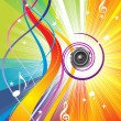 Royalty-Free Stock Векторное изображение: Abstract colorful music wave bacground