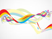 Abstract colorful rainbow wave vector illustration — Stock Vector