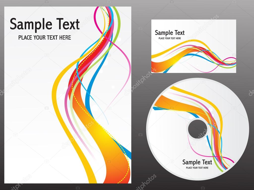 Abstract colorful rainbow design templates — Stock Vector ...