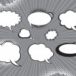 Comic style speech bubbles set — Stock Vector