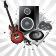 Royalty-Free Stock Imagem Vetorial: Abstract musical instruments