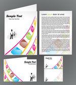 Abstracte kleurrijke brochure — Stockvector