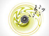 Abstrait mucical sonore — Vecteur