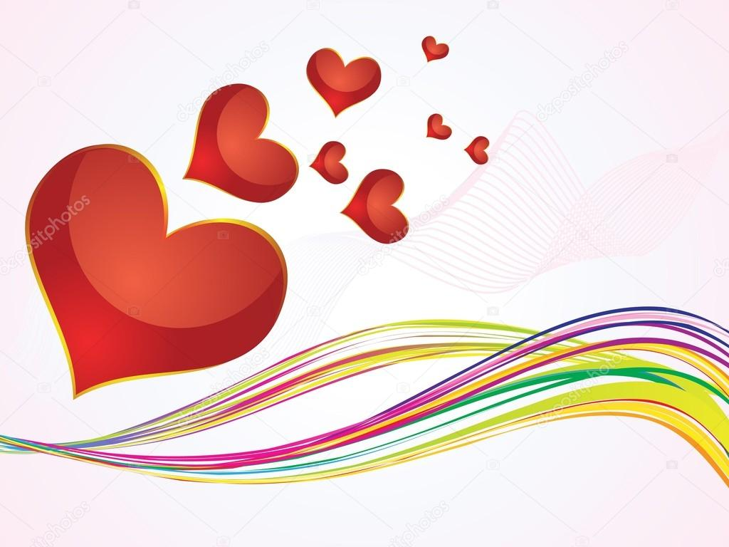 Abstract colorful hearts background vector illustration — Stock Vector #16814445