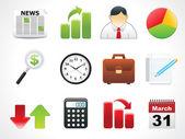 Glossy web icons set — Stock Vector