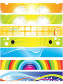 Abstract colorful web banners — Stock Vector