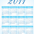 Abstract 2011 calender — Stock Vector #17975415